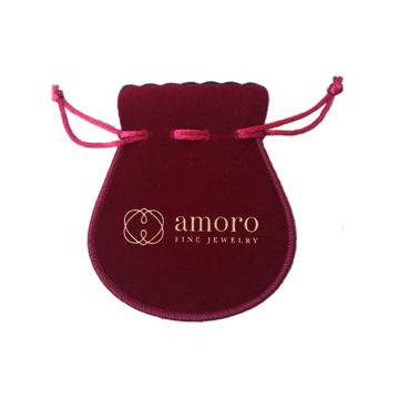 SMALL VELVET DRAWSTING BAG ENVELOP POUCH